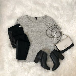 J. Crew Grey Featherweight Terry Sweatshirt